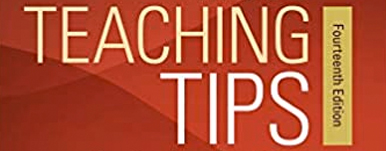 from the cover - red background with the text 'teaching tips'